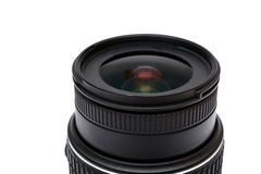 Digital SLR camera lens close up on white Royalty Free Stock Images