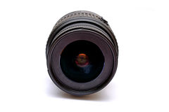 Digital SLR Camera Lens isolated on white Royalty Free Stock Photos