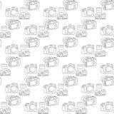 Digital SLR camera on a white background pattern Stock Image