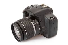 Digital slr isolated on white Royalty Free Stock Photography
