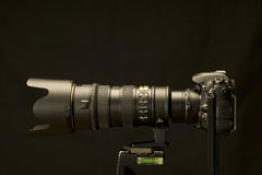 Digital SLR With Powerful Zoom Revised Royalty Free Stock Photo