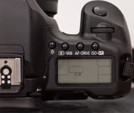 Digital SLR Settings Window Royalty Free Stock Photography