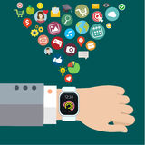 Digital smart watch Royalty Free Stock Photos