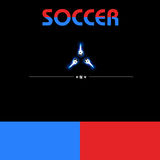 Digital soccer design paper Royalty Free Stock Image