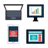 Digital and social marketing graphics. Royalty Free Stock Image