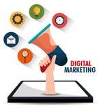Digital and social marketing graphics. Royalty Free Stock Photo