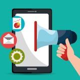 Digital and social marketing graphics. Stock Photography