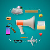 Digital and social marketing strategies Royalty Free Stock Photos