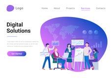 Digital Solutions Business Analytics Management Ma stock illustration