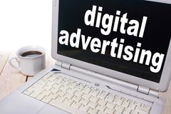 Digital som annonserar, den Motivational affären som marknadsför ord, citerar begrepp royaltyfria foton