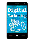 Digital som marknadsför Smartphone Royaltyfria Foton