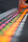 Digital sound desk colors Stock Photography