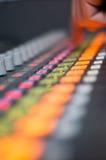Digital sound desk colors Stock Photography