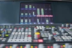 Digital sound desk Royalty Free Stock Image