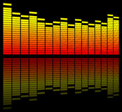 Digital sound equalize Stock Photo