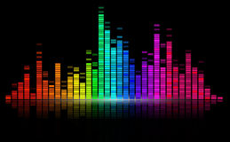 Digital sound equalize Royalty Free Stock Photos