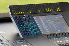 Digital sound mixer in concert Royalty Free Stock Images