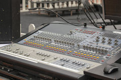 Digital Sound Mixing Console Stock Images