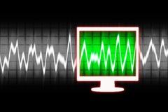 Digital sound wave Stock Photos