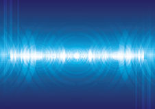 Digital sound wave Stock Photography