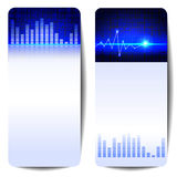 Digital sound wave banner Stock Photography