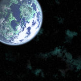 Digital space. Conceptual image of Earth royalty free illustration