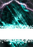 Digital space background Stock Image