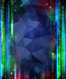 Digital Space. Background with stars and numbers. Mask was used. Stars are separated on layer Stock Image
