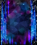 Digital Space. Background with stars and numbers. Royalty Free Stock Photography