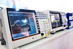 Digital spectrum analyzer stock image
