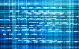 Digital speed background. Blue background with binary code representing speed of technology Stock Images