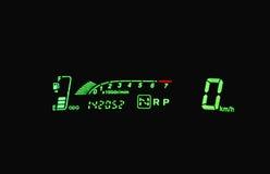 Digital speedometer Stock Image