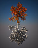 Digital-Spiegel Baum. Stockbild