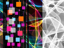 Digital Squares  on  abstract  background Stock Image