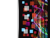 Digital Squares on abstract background stock illustration