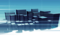Digital-Stadt Lizenzfreies Stockfoto