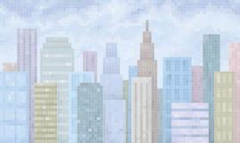 Digital-Stadt Stockfoto