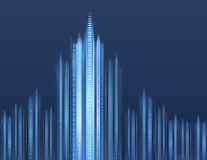 Digital-Stadtbild Stockfotos