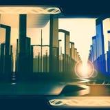 Digital-Stadthintergrund Lizenzfreies Stockfoto