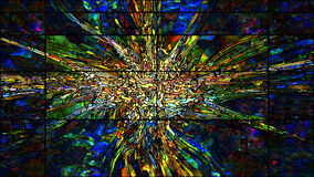 Digital Stained Glass Stock Image