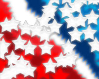 Digital Stars and Stripes 3 Royalty Free Stock Images
