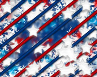 Digital Stars and Stripes 4 Royalty Free Stock Photo