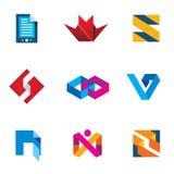 Digital Startup nästa generation för uppsättning för symbol för logo för innovationaffärsinnovation royaltyfri illustrationer