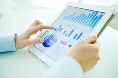 Digital statistics Stock Images