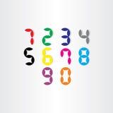 Digital stiliserade nummer från 0 till 9 Royaltyfri Fotografi