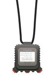 Digital stopwatch. Hanging on a lace Royalty Free Stock Photography