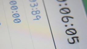 Digital stopwatch counter display Royalty Free Stock Photos