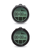 Digital stopwatch illustration Royalty Free Stock Photo