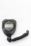 Digital stopwatch on the white background Stock Photography