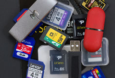 Digital Storage Devices Royalty Free Stock Photography